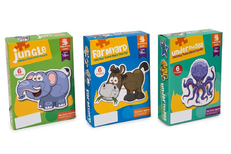 PUZZLES ANIMALES EXP.6 MODELOS 3