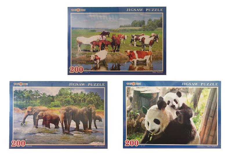 PUZZLES 200PCS. ANIMALES