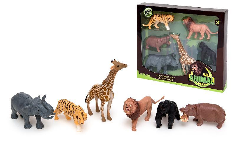 ANIMALES  SELVA 6 CAJA VENTANA
